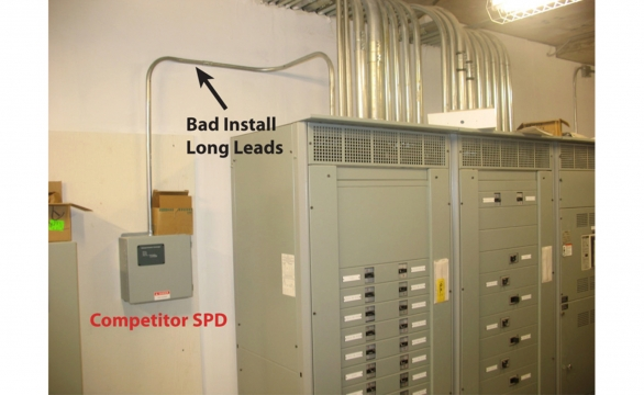 Competitor Unit Bad Install on Service Entrance