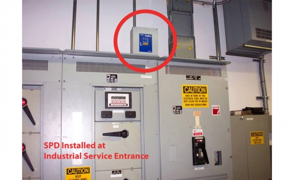 SPD Installation on Industrial Service Entrance