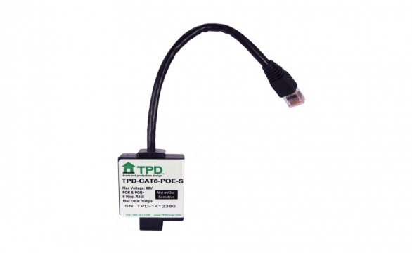 TPD-CAT6-POE-S Ethernet Lightning Protection