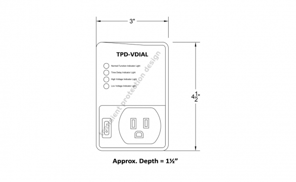 TPD VDIAL Dimensions