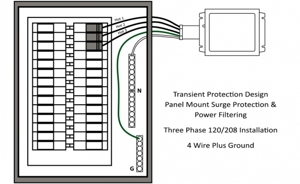 TPX Three Phase Install Drawing