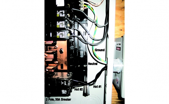 TTLP Installed on Breaker Panel